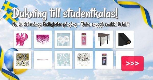 Dukning till studentkalasen!