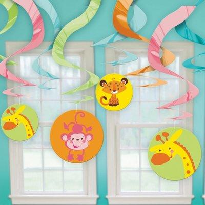 Fisher Price Babyshower hängande virvlar - 60 cm - 12 st