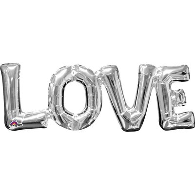 Folieballong - LOVE Silver