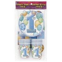 Dukningskit - Första födelsendagen Blå 6 st