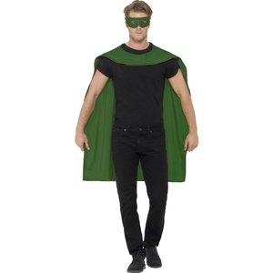 Cape med mask - Grön