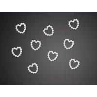 Hjärtanutsmyckningar - 1 cm 50 st