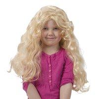 Barnperuk lång lockig blond
