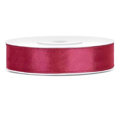Satinband - Flera olika färger 12 mm x 25 m