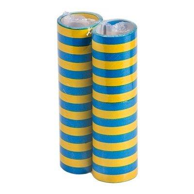 Serpentiner 2p gul/blå
