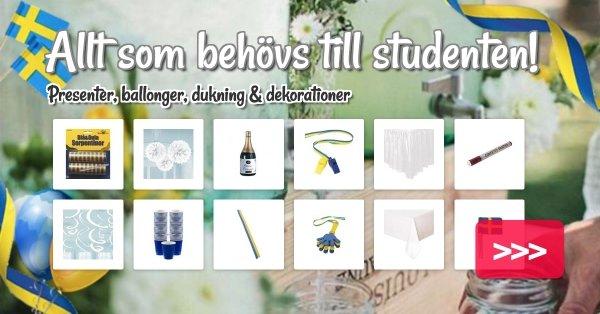 Allt som behövs till studenten!