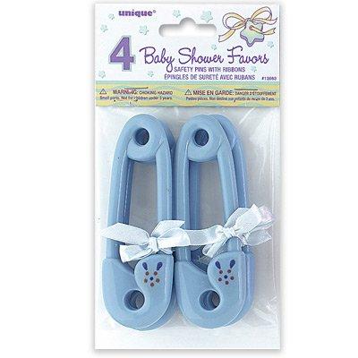 Blå stora Baby säkerhetsnålar - 4 st