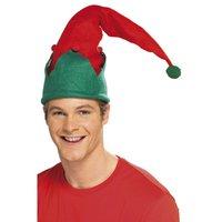 Tomtenisse hatt - röd och grön