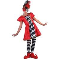 Harlequin tjej maskeraddräkt