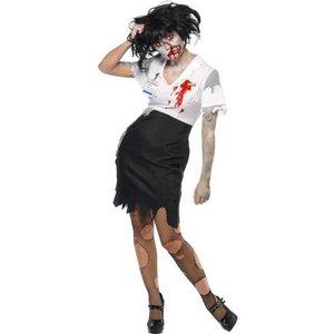 Kontorszombie maskeraddräkt kvinna