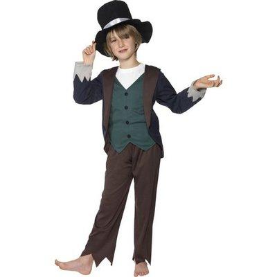 Victoriansk fattig barn - maskeraddräkt med hög hatt