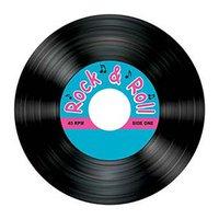 Rock & roll underlägg LP-skiva- 8 st