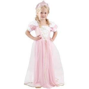 Prinsessa - maskeraddräkt rosa klänning
