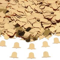 Bordskonfetti Bröllopsklockor guld - 14 g