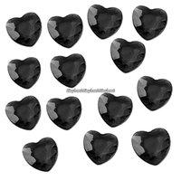 Svarta bordsdiamanter - hjärtan - 21 g