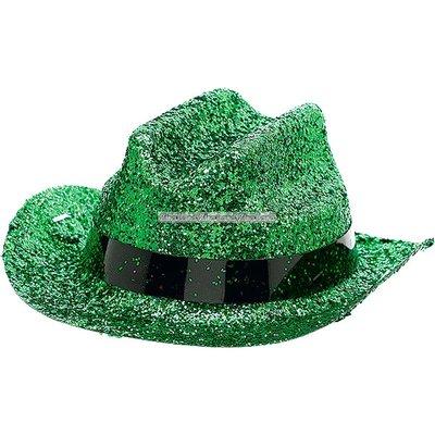 Cowboyhatt mini grönglittrig