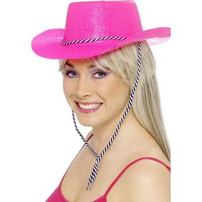 Cowboyhatt neonrosa