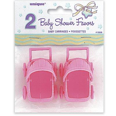 Rosa barnvagn - 2 st
