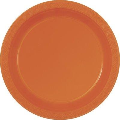 Orange plasttallrikar - 2 varianter