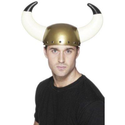 Vikingahjälm - stora horn