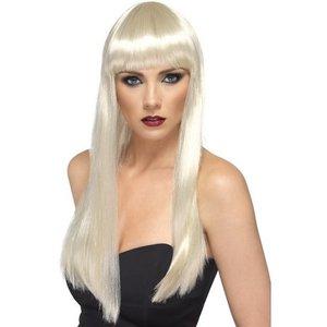 Peruk lång blond
