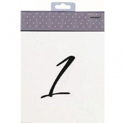 Placeringskort bordsnummer 1 - 12 - 12 st