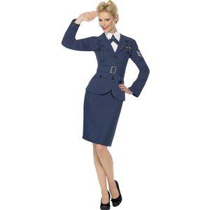 Andra världskriget flygvapen kapten kvinna maskeraddräkt