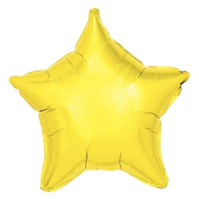 Folieballong - Stjärna Gul 48 cm