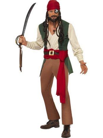 Karribisk pirat maskeraddräkt 399 kr Zingland.se