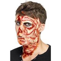 Bränt ansikte ärr - Latex