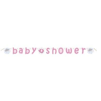 Banderoll - Baby shower rosa 2,2m
