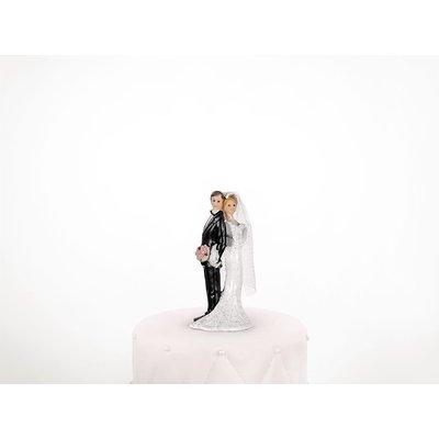 Tårtdekoration - Nygift par lutande mot varann