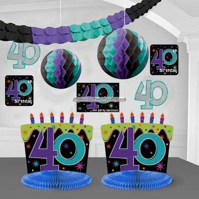 Dekorationssats till 40-årsdagen - The party continues - 10 st
