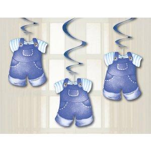 Hängande dekorationer - Klädlina blå 3 st