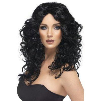 Peruk glamour svart