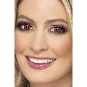 Wolf 1 dags kontaktlinser - Röd