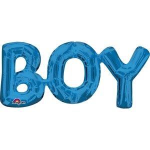 Folieballong - BOY Blå