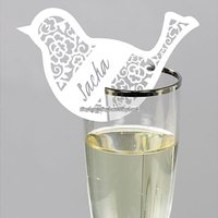 Fågel- placeringskort till glas - Something in the air - 10 st