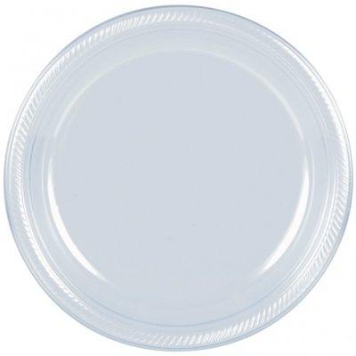 Transparenta plasttallrikar