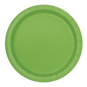 Ljusgröna runda tallrikar - 23 cm