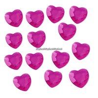 Cerise bordsdiamanter - hjärtan - 21 g